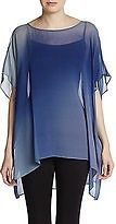 NWT EILEEN FISHER Silk Navy Blue Sheer Watercolor Ombre Ballet Boxy Tunic Top PL...http://stores.shop.ebay.com/vintagefluxed