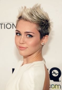 miley Cyrus short hair women's blonde brunette