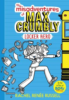 A brand-new series from #1 New York Times bestselling Dork Diaries author Rachel Renee Russell! Introducing Max Crumbly!  Max Crumbly is about to face the scariest place he's ever been: South Ridge Middle School.  There's a lot that's great about his new school, but there's also one big problem—Doug, the school bully whose hobby is stuffing Max in his locker.  If only Max could be like the hero in his favorite comics. Unfortunately, Max's uncanny, almost superhuman ability to smell pizza…