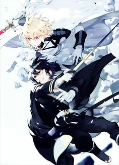 Mika and Yu - Owari no Seraph - Seraph of the End