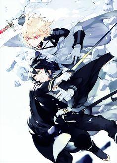 Mika and Yu - Owari no Seraph - Seraph of the End