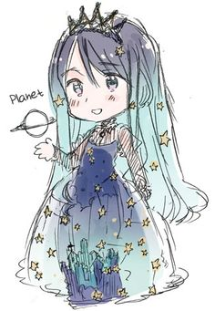 Hetalia - Official Doodles : Galaxy<<<Whoa, Mother Milky Way. is this an actual thing? Of course it's a thing *tilts head to side confused* Hetalia Manga, Manga Anime, Anime Art, Manga Girl, Anime Girls, Vocaloid, Chibi, Character Inspiration, Character Design