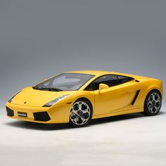 Lamborghini Gallardo Yellow Diecast Model Car by Autoart Bens Car, Lambo Gallardo, Cayman Gt4, Diecast Model Cars, Cool Cars, Porsche, Bike, Vehicles, Yellow