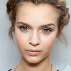 Concealer + nude lipstick + sheer gloss = the perfect nude lip
