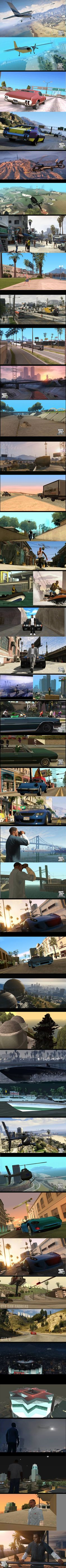 GTA San Andreas vs GTA V