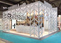 Exhibition stand - Saquella | Mina Ignazzi Kiosk Design, Spa Design, Cafe Design, Interior Design, Exhibition Stall Design, Exhibition Display, Exhibition Stands, Exhibit Design, Exhibition Ideas