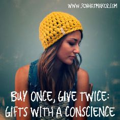 Jen Hatmaker - Buy Once, Give Twice: Gifts With a Conscience Everything you need for Christmas shopping with a purpose!