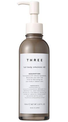 THREE FULL BODY EMULSION AC R Эмульсия для тела 98% натуральных ингредиентов.