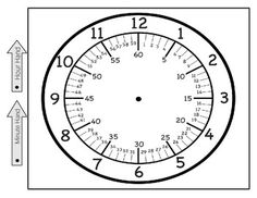 This is a printable clock face showing hours, minutes by 5 and minutes by There are 2 hands to attach to the clock and say minute hand and hour hand. This should be printed on heavy card stock and laminated for extended use. Teaching Clock, Teaching Time, Teaching Math, Maths, Clock Worksheets, Free Printable Worksheets, Number Worksheets, Alphabet Worksheets, Free Printables