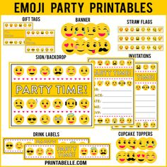 I have a new printable Emoji bingo game that matches with my emoji party printable