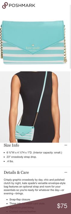 💥price drop💥 NWOT Kate Spade Fairmount crossbody A Kate Spade small cross body with detachable strap. New without tags. I'm reposhing this because I've never used it since buying, it's just sat on a shelf in my closet because I had found and have been carrying a Kate Spade bag I like more ❤ no tags or care book. kate spade Bags Crossbody Bags