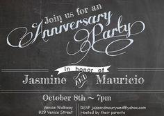 40th anniversary invitations ideas