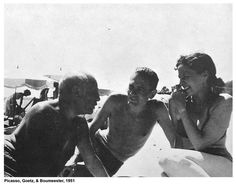 Picasso with married artists Henri Goetz and Christine Boumeester.