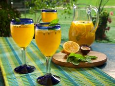 Tropical Sangria recipe from Bobby Flay via Food Network
