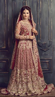 Barat bride wearing republic women's wear Asian Bridal Dresses, Bridal Mehndi Dresses, Beautiful Bridal Dresses, Asian Wedding Dress, Pakistani Wedding Outfits, Indian Bridal Outfits, Bridal Dress Design, Bridal Lehenga Choli, Wedding Dresses For Girls