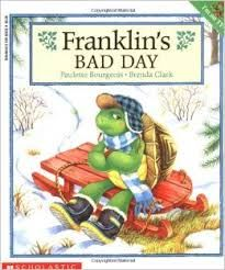 Bourgeois, Franklin's Bad Day, friends, friendship, feelings, winter, pen pals, turtles, family