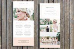 Hochzeit Fotograf Preise-Leitfaden-Schablone - Vista Print Rack-Kartengestaltung - digitale Photoshop Vorlagen - INSTANT DOWNLOAD - m0063