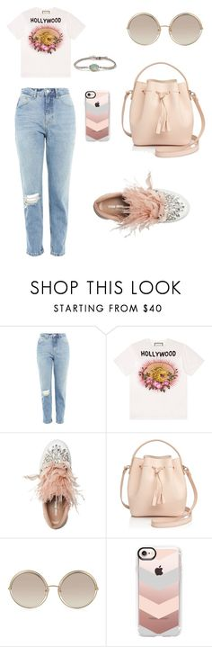"""Day look 😊"" by hanija21 ❤ liked on Polyvore featuring Topshop, Gucci, Miu Miu, Céline Lefébure, Marc Jacobs, Casetify and BROOKE GREGSON"