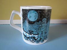 Vintage/retro Staffordshire Potteries Moon Landing Mug.  Wish I had this set!