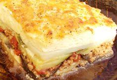 Görög muszaka eredeti recept alapján Fruits And Vegetables, Tofu, Lasagna, Feta, Sandwiches, Cheesecake, Cooking Recipes, Ethnic Recipes, Sweet