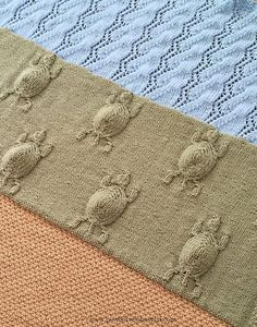 Baby Knitting Patterns Knitting Pattern for Turtle's Journey Blanket - This bab...