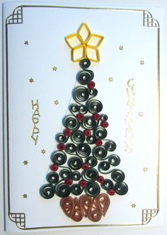 Quilling Christmas tree - pattern from Cardonnay