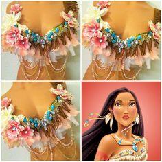 Girly Pocahontas Rave Bra by TheLoveShackk on Etsy