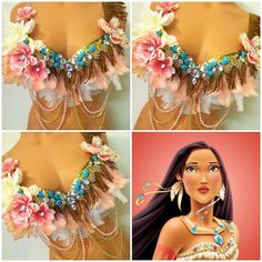 Girly Pocahontas Rave Bra by TheLoveShackk on Etsy
