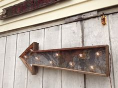 arrow reclaimed material wood metal - Google Search