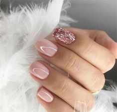 Looking for easy nail art ideas for short nails? Look no further here are are quick and easy nail art ideas for short nails. Gel Nail Art Designs, Short Nail Designs, Nail Design For Short Nails, Light Pink Nail Designs, Gorgeous Nails, Pretty Nails, Amazing Nails, Gel Nagel Design, Light Pink Nails