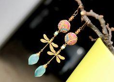 Peruvian Opal Chalcedony jewelry Amazonitegolden pearl clay
