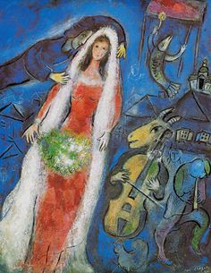 chagall. happiness isn't happiness without a violin-playing goat.