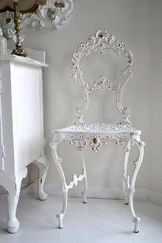 Shabby Chic White  Love this chair :)
