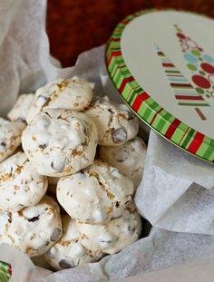 "Gluten and Nut Free ""Chocolate Toffee Meringue Cookies"""