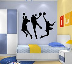 Diy Basketball Players Boys Kids Games Black Vinyl Removable Wall Stickers Home Decals Sport For Teen Children Bedroom Living Room Decor Removable Wall Stickers For Kids Removable Wall Stickers For Kids Rooms From Belinda_success, $18.79| Dhgate.Com