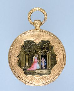 Antique Pocket Watch - Gold and Enamel Cylinder from Pieces of Time