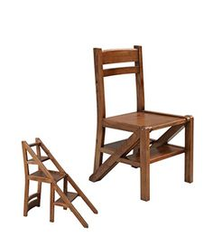 Yanzhen Foldable Chair Ladder Multifunction Dual Use Four Step Solid Wood House