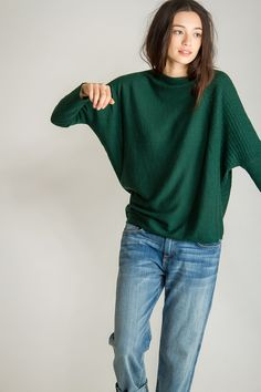 Polygon Pullover, Bottle Green, 100% Fine Worsted Cashmere | Paychi Guh