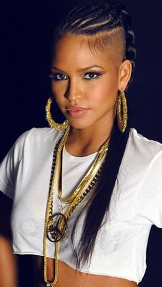 cassie cornrows with shaved sides of her head hairstyles Shaved Side Hairstyles, Girl Hairstyles, Braided Hairstyles, Hairstyle Braid, Style Hairstyle, Cornrows, Braids With Shaved Sides, Natural Hair Styles, Short Hair Styles