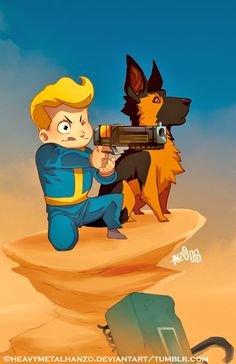 Fallout,фаллаут приколы,фэндомы,Fallout 4,dogmeat,heavymetalhanzo,Vault boy