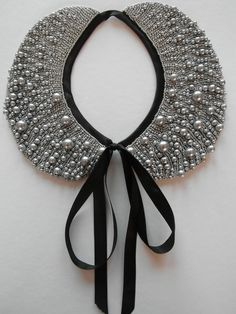 Handmade pearl collar necklace vintage style by ilvakampare, €35,90