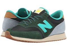 Womens Shoes New Balance Classics 620 - Redwoods Green/Grey