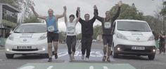Marathon de Paris: Nissan soutient les runners qui ont franchi la ligne darrivée! Sports Advertising, Nissan, Finish Line