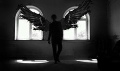 Thanatos - Thanatos (Ancient Greek: Θανατος) was the Greek personification of death. Unlike the Erinyes, he was the god of peaceful death, just touching a person and then they die. Jace Lightwood, Light Yagami, Angel Aesthetic, Angels And Demons, Angel Art, Fantasy, The Mortal Instruments, Gods And Goddesses, Death Note