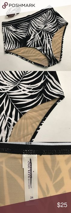 Lane Bryant Swim Cacique plus 24 Tropical bottom New with out tags various sizes .beautiful lined swim bottom zebra palm print.label has been mark out to see photos.#300A8PE swim by cacique Swim Bikinis