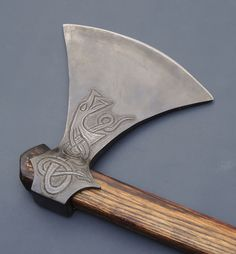 Viking Axe with chased Dragon from elmerroush.com