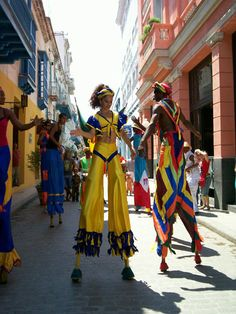 A Cuban Carnival can be commonly found as a use of celebration through the streets.