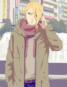 Tags: Anime, City, Akatsuki, NARUTO, Cellphone, Phone, Deidara