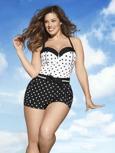 Retro Dot Balconette Swim Tank. You've got the curves, you've got the confidence, now rock your pin-up style!