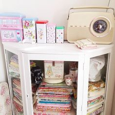 Heart Handmade UK: The Craft Room Update | Ikea Expedit Craft Storage and Vintage Wallpaper Patchwork Door